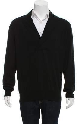 Alexander McQueen Cashmere-Blend Shawl Neck Sweater