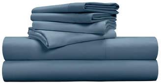 Pillow Guy Luxe Soft & Smooth Tencel 6-Piece Sheet Set - Cadet Blue / Queen Size Bedding