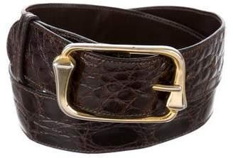 Gucci Crocodile Buckle Belt