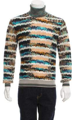 Missoni Patterned Knit Turtleneck Sweater