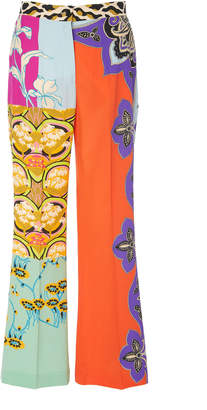 Etro Devon High-Rise Silk Flared Pants