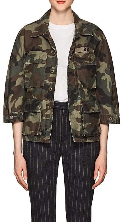 Women's Abu Camouflage Cotton Shrunken Jacket