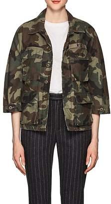 R 13 Women's Abu Camouflage Cotton Shrunken Jacket
