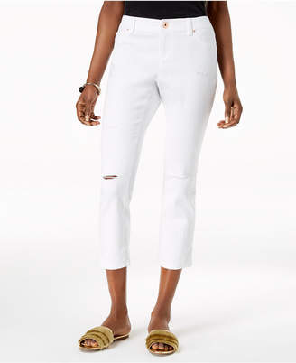INC International Concepts I.n.c. Curvy-Fit Ripped Cropped Jeans, Created for Macy's