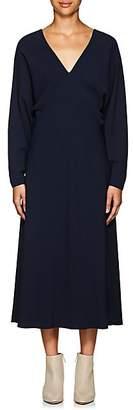 The Row Women's Dan Stretch-Crepe V-Neck Dress - Navy