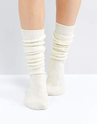 Asos Design Cable Long Slouch Socks