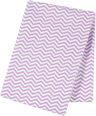 Trend Lab TREND LAB, LLC Lilac Chevron Flannel Swaddle Blanket