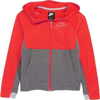 Nike Colorblock Zip Front Hoodie