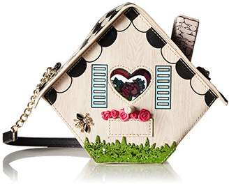 Betsey Johnson Tweet Home Birdcage Bird House Crossbody