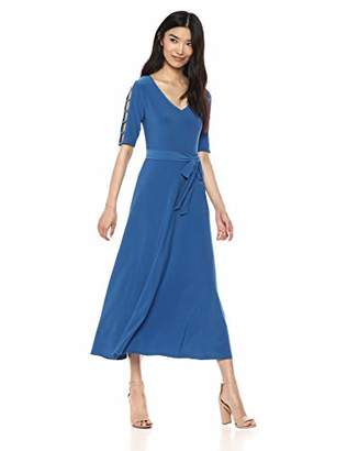 Chaus Women's Cutout SLV Tie Waist Dress