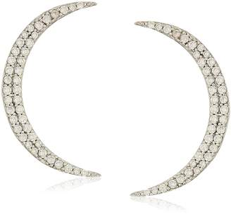 Shashi Crescent Pave Stud Earrings
