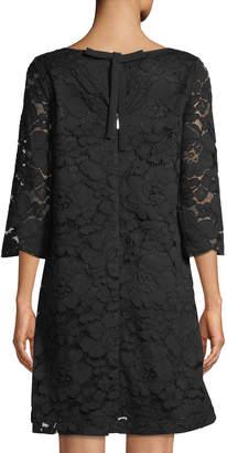Karl Lagerfeld Paris 3/4-Sleeve Lace Bow-Back Dress