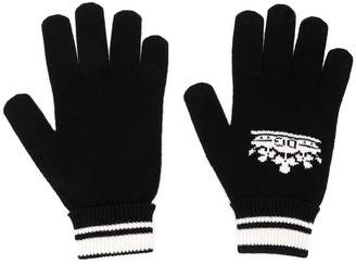 Dolce & Gabbana crown logo intarsia gloves