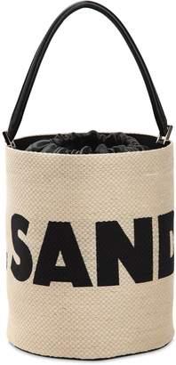 Jil Sander (ジル サンダー) - JIL SANDER ウーヴンジュート バスケットバッグ
