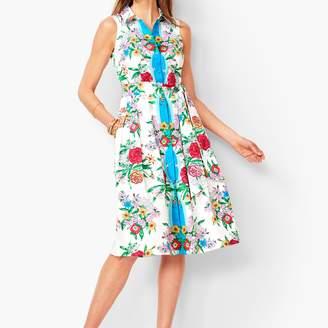 Talbots Blossoms Sateen Shirtdress