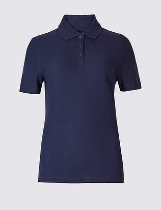 Marks and Spencer Pure Cotton Short Sleeve Polo Shirt