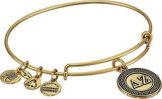Alex and Ani Sorority Delta Zeta Expandable Rafaelian Gold-Tone Wire Bangle Bracelet