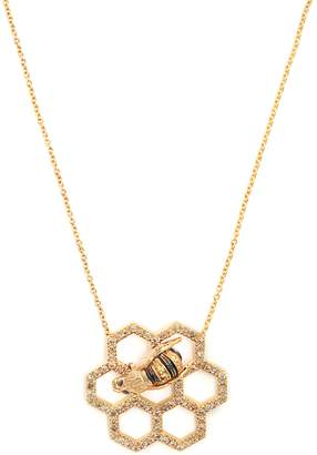 Delfina Delettrez Beehive diamond & sapphire yellow-gold necklace