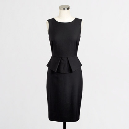 J.Crew Factory Factory stretch wool peplum dress