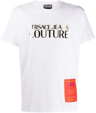 Versace logo printed crew neck T-shirt