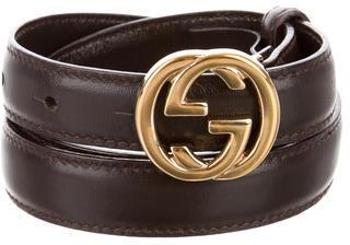 Gucci Leather Logo Waist Belt $125 thestylecure.com