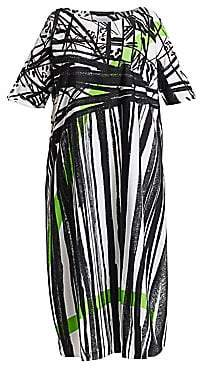 Marina Rinaldi Marina Rinaldi, Plus Size Women's Abstract Print Cotton Dress