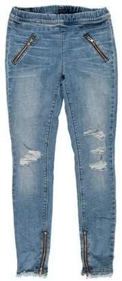 RtA Denim Mid-Rise Distressed Jeans
