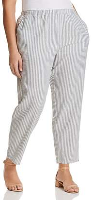 Eileen Fisher Plus Striped Cropped Pants