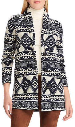 Chaps Petite Printed Toggle Sweater