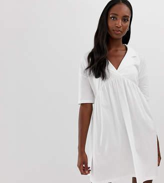 08322ac735282 Asos Tall DESIGN Tall oversized smock dress with collar