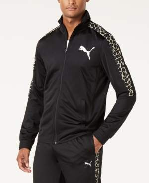 Puma Men's Cheetah-Print Track Jacket