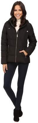 Calvin Klein Short Untrimmed Down w/ Velvet Collar Women's Coat