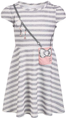 Hello Kitty Toddler Girls Striped Purse Dress