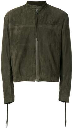 Haider Ackermann banded collar zipped jacket