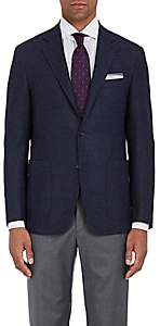 Canali Men's Kei Double-Faced Wool Two-Button Sportcoat - Navy