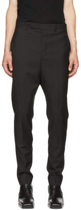 Rick Owens Black Wool Astaires Trousers