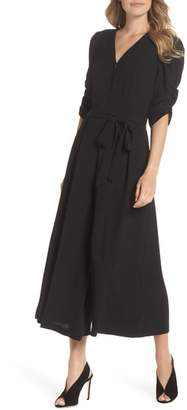 Eliza J Ruched Sleeve Wide Leg Jumpsuit