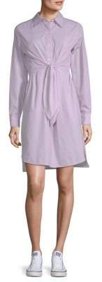 Max Studio Tie Waist Shirtdress
