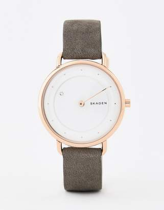 Skagen SKW2739 Horisont leather watch 36mm