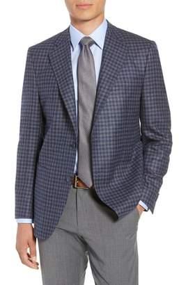 Peter Millar Flynn Classic Fit Check Wool Blend Sport Coat