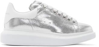 Alexander McQueen Silver Oversized Sneakers