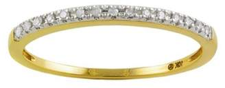 Private Label 10K Yellow Gold & 0.06ct Diamond Dainty Stackable Ring Size 9