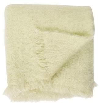 Yves Delorme Mohair Fringe Throw Blanket