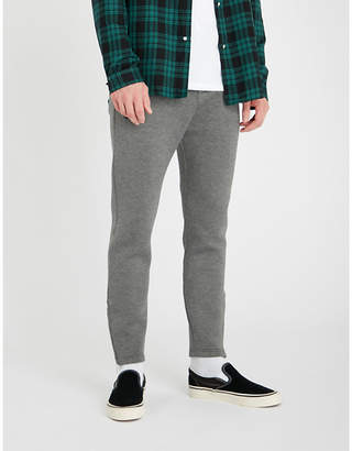The Kooples Zipped-cuff jersey tapered jogging bottoms