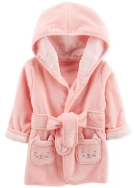 Carter's Baby Girls Kitten Cotton Bathrobe 0-9M