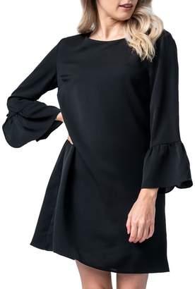 Olivia Pratt Long Sleeve Ruffle Shift Dress
