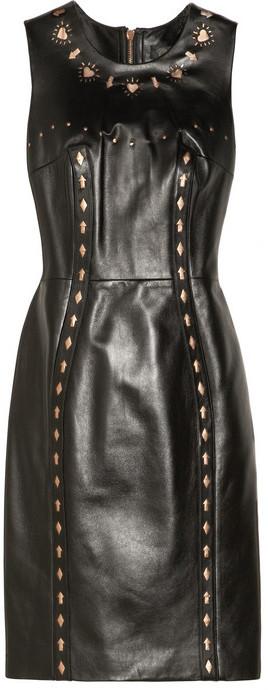 Versace Cutout leather dress