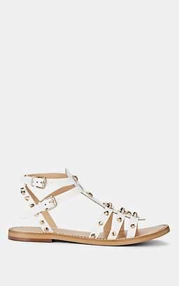 FiveSeventyFive Women's Studded Leather Multi-Strap Sandals - White