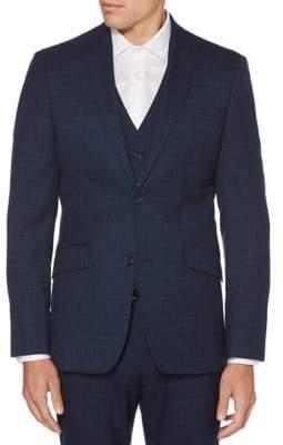 Perry Ellis Slim Plaid Jacket