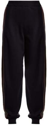 Stella McCartney Contrast-panel wool track pants